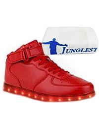 (Present:kleines Handtuch)Schwarz High-Top 41 EU Turnschuhe JUNGLEST USB Leuchtend Sneaker Damen Schuhe JUNGLEST(TM) LED für 7 Sportschuhe Aufladen Sport Farb fOtxZ