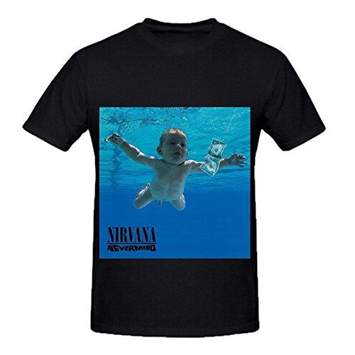 T-Shirt Nirvana Nevermind Rock Album Cover Men Crew Neck Cool Shirt