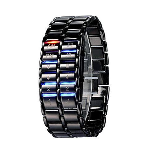 Gskj Elektronische Uhr Lässige Uhr Mode LED Paar beobachten Erleuchten wasserdichte Uhr Vulkanische Lava Sportuhr Herrenuhr Damenuhr,small1