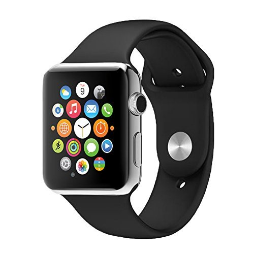 Apple iPhone 7 Plus Compatible A1 Bluetooth Smart Watch with SIM Card Slot/Camera & Bluetooth Waterproof Speaker Compatible with All Smart Phones by m-fit 41X3y6p q6L