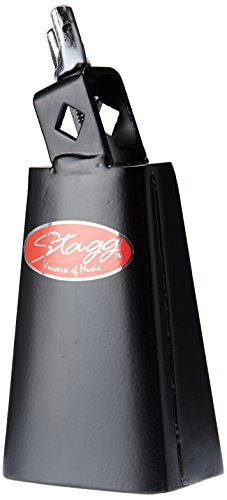 STAGG TC 4 4 1/2 COWBELL FOR DRUMSET W/ SCREW   BLACK