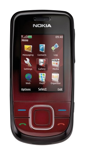 Nokia 3600 slide dark red (EDGE, QVGA-Display, Kamera mit 3,2 MP, UKW-Stereo-Handy, Bluetooth) Handy
