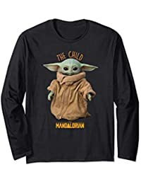 Star Wars The Mandalorian The Child Cute Maglia a Manica