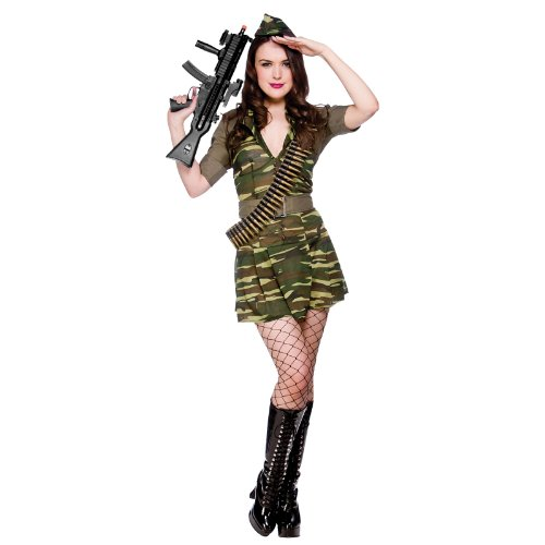 Sexy Army Cadet Private Tease Adult Women Fancy Dress Military (Fancy Dress Female Army)
