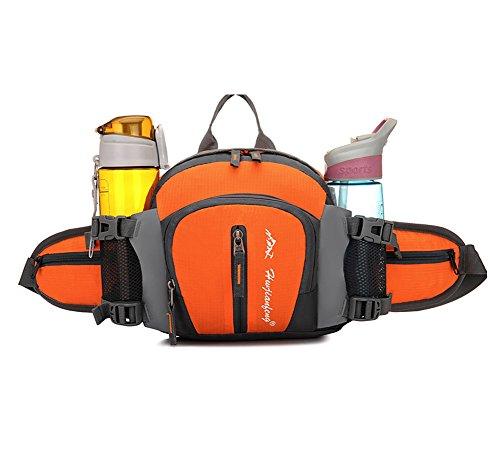 Baymate Unisexe Durable Sport Camping Randonnées Vélo Extérieureinsatz Fermeture Éclair Taille Sac Orange