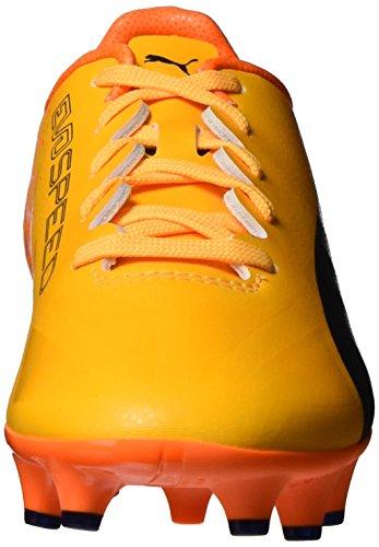 Puma Evospeed 17 Sl S Fg Jr, Chaussures de Football Mixte Enfant Jaune (Ultra Yellow-peacoat-orange Clown Fish 02)