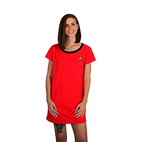 Robe Factory - Ensemble de pyjama - Femme Doré Black,Gold - Rouge - X-Small
