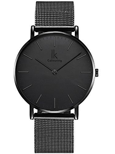 alienwork-ik-all-black-orologio-quarzo-elegante-quarzo-moda-design-senza-tempo-classico-metallo-nero