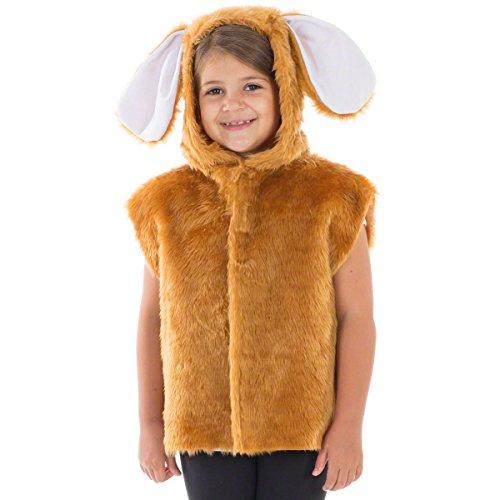 Unbekannt Charlie Crow Brauner Hase kostüm für Kinder - Einheitsgröße 3-8 ()