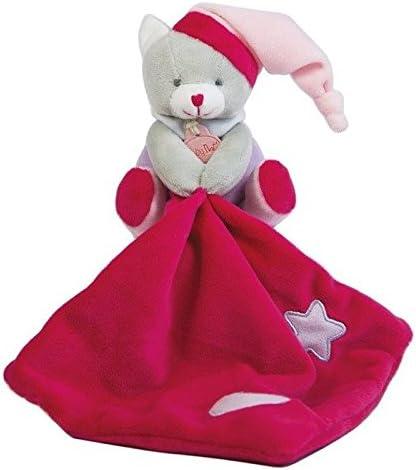 Babynat Baby'nat ours luminescent luminescent luminescent avec mouchoir rose etoile 13cms BN0137 07b724