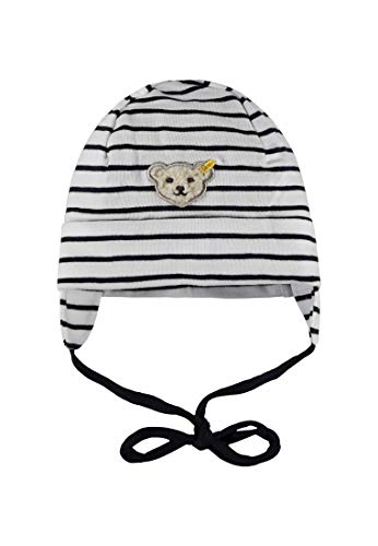 Steiff Baby-Jungen Mütze, Blau (Marine|Blue 3032), 43 (Baby-jungen-accessoires)