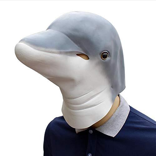 (TBGGFSD Simulationsmaske für Kostümpartys, Delfin-Maske)