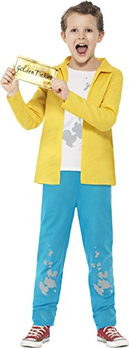 Smiffy's 27142M - Roald Dahl Charlie Bucket Kostüm mit Top Hosen und Golden Ticket (Roald Dahl Tag Kostüm Ideen)