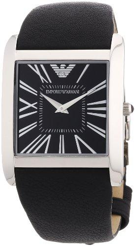 Emporio Armani Classic Collection AR2006 - Reloj analógico de cuarzo para mujer, correa de cuero color negro