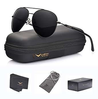 efa2dca7de ... LUENX Aviator Sunglasses Polarized for Men Women with Sun Glasses Case  - UV 4