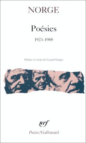 Poésies: (1923-1988) par Norge