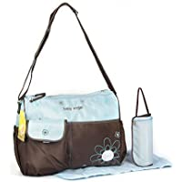 Nappy bag diapter bag 3 parts blue brown changing bag baby care bag travel choice of colours preiswert