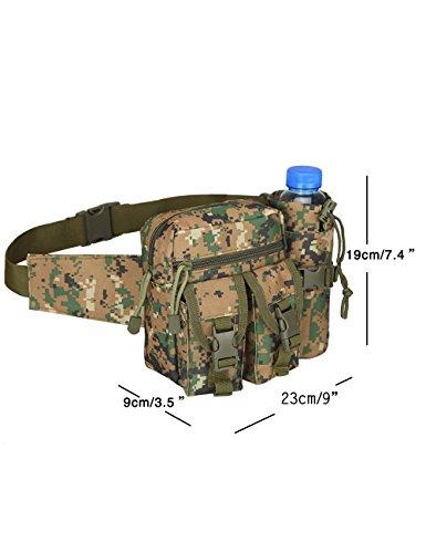 CUKKE Multipurpose Taktische Tasche Gürtel Taille Pack Tasche Military Taille Fanny Pack Telefon Tasche Gadget Geld Tasche Tarnung 6 Tarnung 2