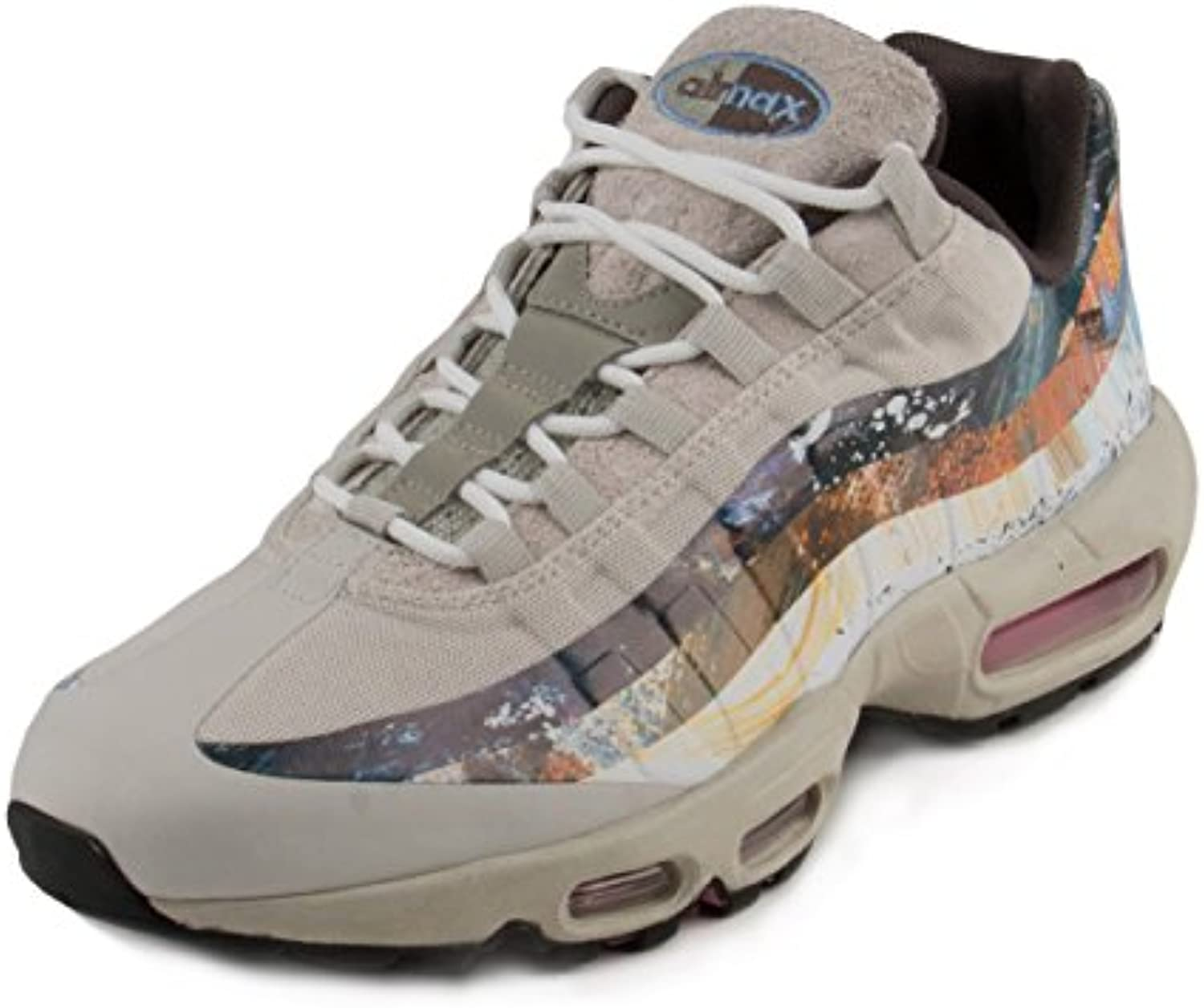 NIKE Mens Air Max 95 Dave White Stone/Thunder-Light Bone Synthetic Synthetic Bone Size 9 7d420a