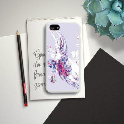 Apple iPhone 5s Housse Étui Protection Coque Design Motif Motif Housse en silicone blanc