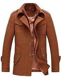 Amazon.it  Giacca Di Lana - Marrone   Giacche   Giacche e cappotti ... afe641fd9fc