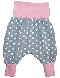 """'Baby Pantalon Harem Pantalon """"Superstar Gris/Rose"""