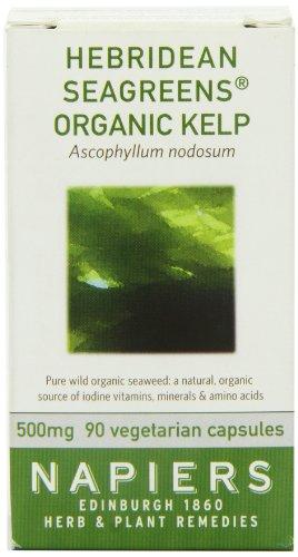 Napiers Goémon noir Organique 90 Capsules - Vitamines et Minéraux d'herbes naturelles
