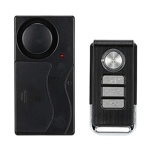 KKmoon Alarm Vibrationssensor Detektor Drahtlose Fernbedienung Sicherheitstür Fenster für Auto mit Fernbedienung