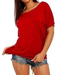 Damen Basic Shirt T-Shirt Oversize Look