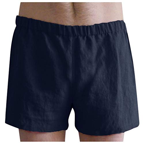 Binggong Kurze Hosen Herren Bettwäsche aus Baumwolle Shorts Schnell Trocknend BadehoseBadeshorts Fitness Männer VintageSommer Bermuda SweatshortsEinfarbig (Fitness-bettwäsche)