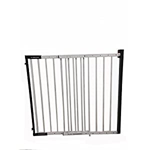 iSafe Wall Fix Extendable Metal Stairgate Safety Barrier Stair Gate - White   10