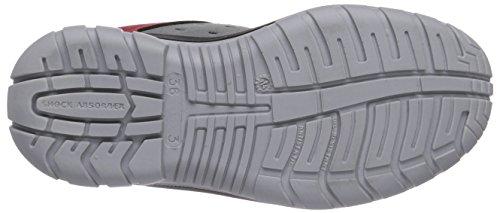 Maxguard - Paul P220, Calzature Di Sicurezza, unisex Multicolore (rot/grau)