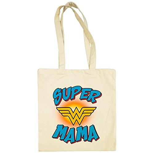 Bolsa tela Supermamá mamá maravilla Wonder Woman