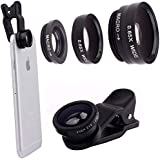 Starford Plastic and Metal Universal 3 in 1 Mobile Camera Lens for All Smartphones (Multicolour)