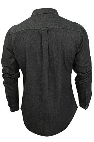 Firetrap Herren Hemden mit Lockerem Schnitt Mens Shirt Garrick, One size Garske - Black