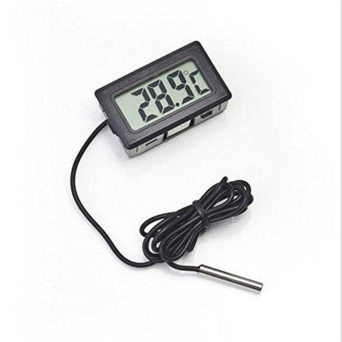 Outstanding® Digital-Thermometer Aquarium-Thermometer Wasser-Thermometer Kühlschrank mit Wasserdichter Prob