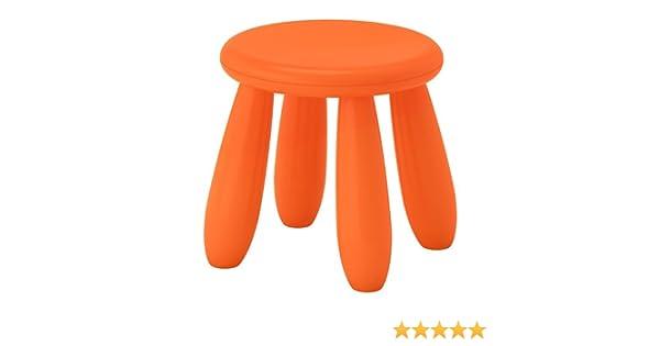 Ikea mammut kinderhocker in orange für drinnen und draußen