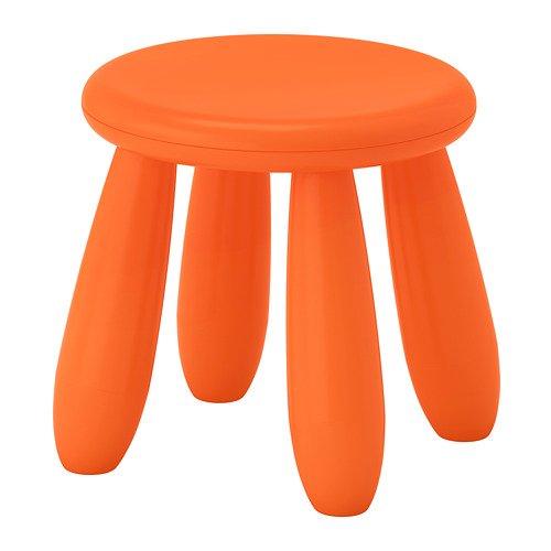 Ikea Mammut taburete infantil, color naranja a partir de 02/2018