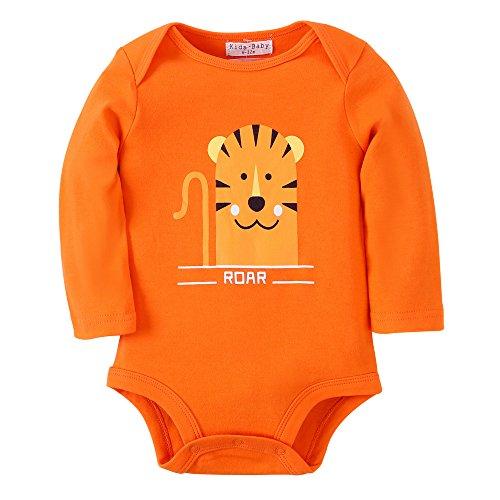Kleidung Baumwoll Neugeborene Säugling Kleider Langen Ärmeln Bodys (6-12 Monate, R11 TIGER) (Baby-tiger Halloween-kostüm)