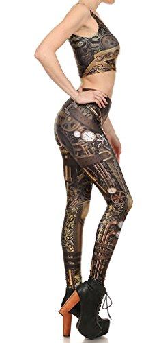 Belsen - Legging - Femme multicolore Vest L Vest