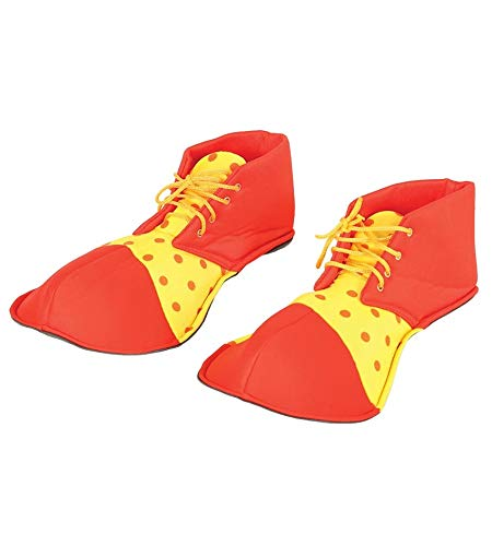 Guirca 17539 - Zapatos Payaso Rojos/Amarillos 36 Cms