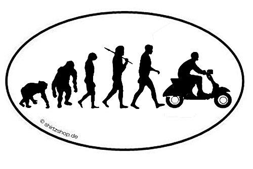 Preisvergleich Produktbild SCOOTER I MOTORROLLER scooterist roller EVOLUTION Aufkleber Autoaufkleber Sticker Vinylaufkleber Decal