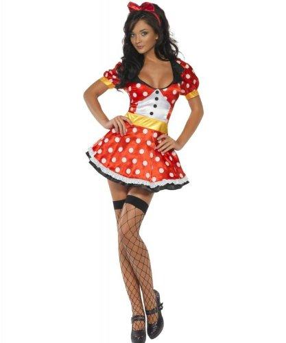 (Fever Miss Mouse Costume Female UK Dress 8-10 21010S)