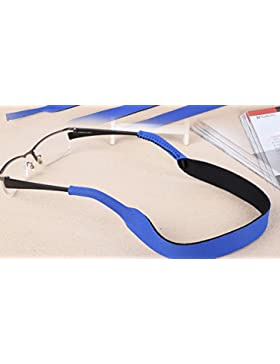 ? Gafas de sol gafas banda correa cable cadena, azul claro