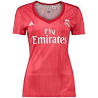 adidas Real Madrid fútbol Third – Camiseta de Mujer, Mujer, Color Real Coral/Vivid Red, tamaño FR : S (Taille Fabricant : S)