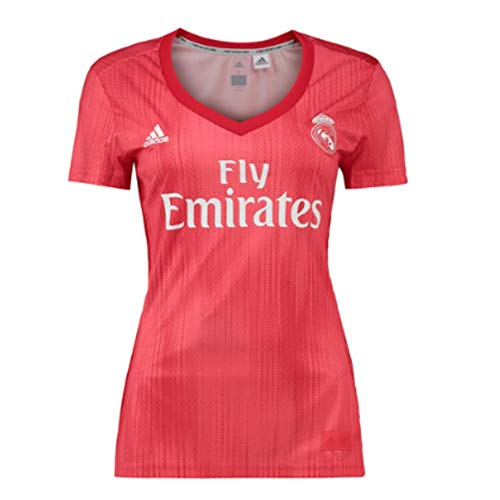7aad59ce833 adidas Real Madrid fútbol Third – Camiseta de Mujer, Mujer, Color Real  Coral/