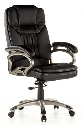 hjh OFFICE 668350 silla de oficina TRITON 300 piel sintética negro / color titanio silla ejecutiva