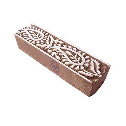 Royal Kraft Designer Paisley Gestalten Bordüre Holz Textil Druck Block