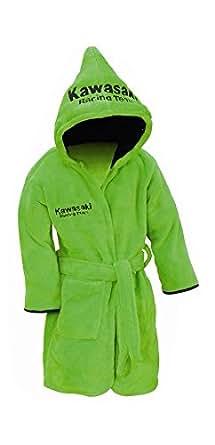 Kawasaki kRT peignoir de bain pour enfant avec capuche pour enfant vert bikerWorld.