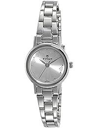 Titan Analog Silver Dial Women's Watch-917SM03